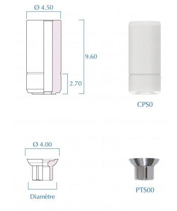 piliers en titane pour barre